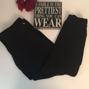 WHBM Black Pants with Jogger Style Ankle. SZ 12